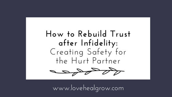 infidelity therapy for hurt partner