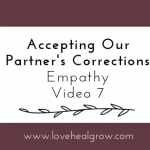 Accepting Our Partner's Corrections