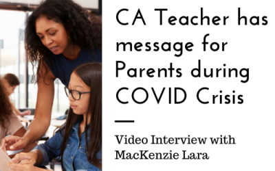 Bay Area Teacher Has Message for Parents of School Aged Children during COVID Crisis